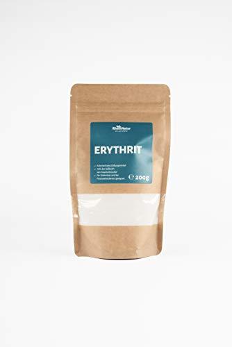 Rheinnatur Erythrit kalorienfreier Zuckerersatz, light, mit 70% der Süßkraft von Zucker, vegan und glutenfrei | 200 g