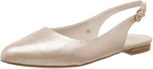 CAPRICE Damen Alisa Slingback Pumps, Mehrfarbig (Lt Gold Metal. 978), 39 EU