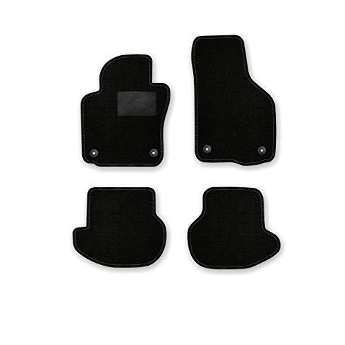 Bär-AfC VW04098 Ideal Auto Fußmatten Nadelvlies Schwarz, Rand Kettelung Schwarz, Trittschutz Kunststoff, Set 4-teilig, Passgenau für Modell Siehe Details