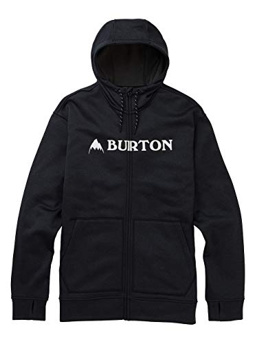 Burton Herren Oak Zip-Pullover, True Black Heather, XS