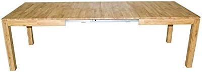 Zons Grande Table À Manger Extensible 160-290CM 6-12 Personnes Bois CHÊNE Massif, 290-160x90xH75 cm