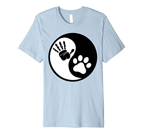 Hand Yin Yang Hundemotiv Live in Harmonie mit Ihrem Hund T-Shirt