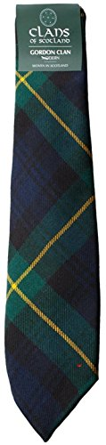 I Luv Ltd Gordon Clan 100% Wool Scottish Tartan Tie