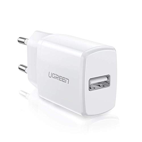 UGREEN USB Ladegerät 10W USB Ladeadapter kompatibel mit iPhone X, 8, 7, 6 Plus,6s,5s,iPod, Samsung S8 S7,S7 Edge S5 S4 Mini S6 A3 A5 A6 J7 J5 J4 J3 Note 4, Huawei P8, Honor6,Nokia 8, MP3 usw.(Weiß)