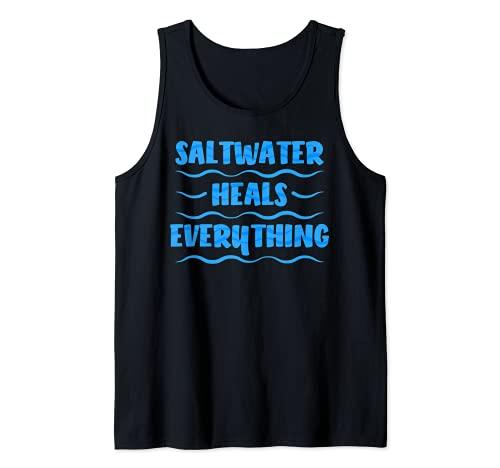 El agua salada de la costa sana todo las vacaciones en la playa Camiseta sin Mangas