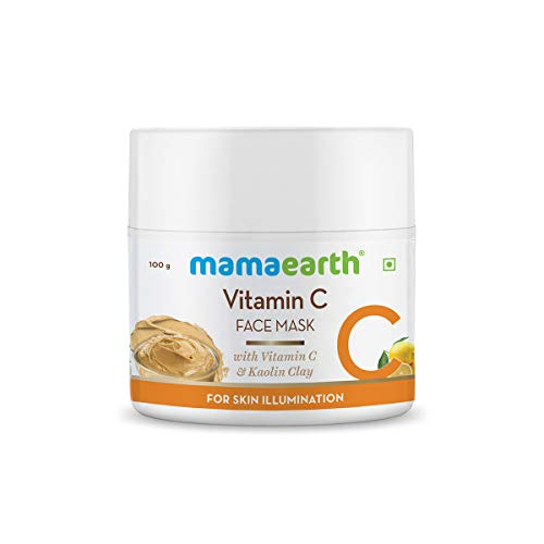 Mamaearth Vitamin C Face Mask with Vitamin C and Kaolin Clay for Skin Illumination and Reduces Dark Spots (100 g)