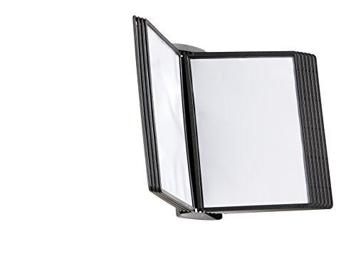 Durable 585401 Wand-Sichttafelsystem Sherpa Style Wall, mit 10 Sichttafeln A4, schwarz