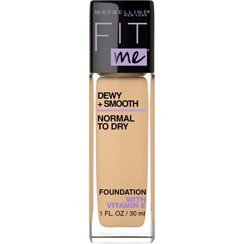 Maybelline New York Fit Me Dewy + Smooth Foundation, Sandy Beige, 1 Fl. Oz (Pack of 1) (Packaging May Vary)