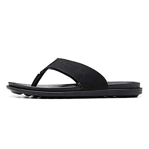 bjyxszd Casual Flip Flops Flat Walking Slide Sandals Shoes,Mens Sport Outdoor Sandals,Summer anti-slip outdoor sandals, leisure beach pinned people flops, football support sandals-black_7 UK