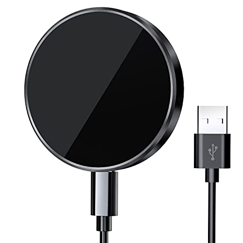 Kdely Caricatore Wireless Magnetico 15W Caricabatterie Senza Fili Veloce Qi Wireless Charger Rapido per Compatibile con iPhone 12/iPhone 12 Pro/iPhone 12 Pro Max/iPhone 12 Mini/Airpods Pro/Airpods 2