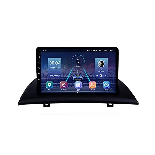 Android 10.0 Radio Estéreo 2 DIN para B-MW X3 E83 2004-2012 Navegación GPS IPS Pantalla táctil Reproductor Multimedia Receptor de Video con 4G WiFi Bluetooth SWC Carplay