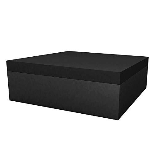 Vondom Quadrat Pouf pour l'extérieur 120x120 h.40 cm Noir