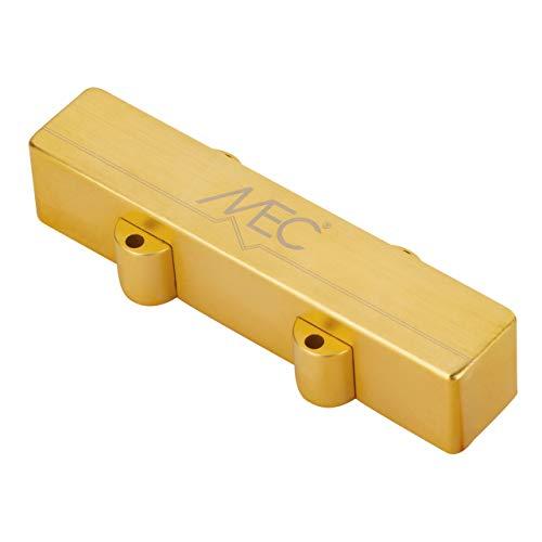 MEC Active J-Style - Pastilla para bajo (pantalón corto), cubierta de metal, cuello de 4 cuerdas, color dorado cepillado