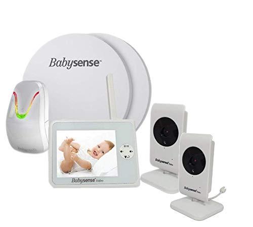 Babysense V35 Babyphone mit Sensormatten und 2 Kameras: Babysense Video Babyphone V35 + Atmungsüberwachung Babysense 7