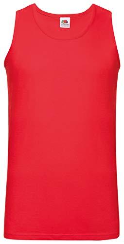 Herren-Achselshirts der Marke Fruit of the Loom, Tanktop, T-Shirt, in allen Größen und Farben erhältlich, 5 Stück Gr. XXL/ 119 cm- 124 cm, 5 x Red