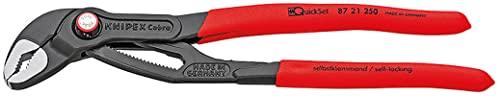 KNIPEX Cobra QuickSet Pinza regolabile di nuova generazione per tubi e dadi (250 mm) 87 21 250