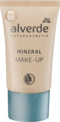alverde NATURKOSMETIK vegan Mineral Make-up beige rosé 03, 30 ml