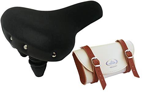 Montegrappa modèle Nevada 1605 Selle vintage avec sac de rangement Noir 0016 (Crème/Miel)