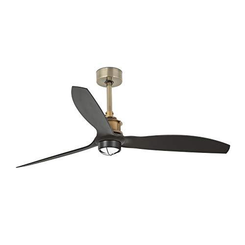 Faro Barcelona 33417WP-10- JUST FAN LED Ventilador de techo oro viejo/negro SMART (Receptor Smart 34150 no incluido)