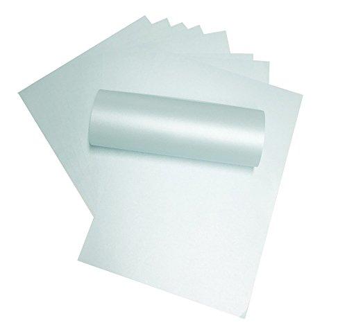 20x A4Damast Hellblau Doppelseitig Herzblume Majestic Perlglanz Papier 120g/m² geeignet für Inkjet und Laser Drucker