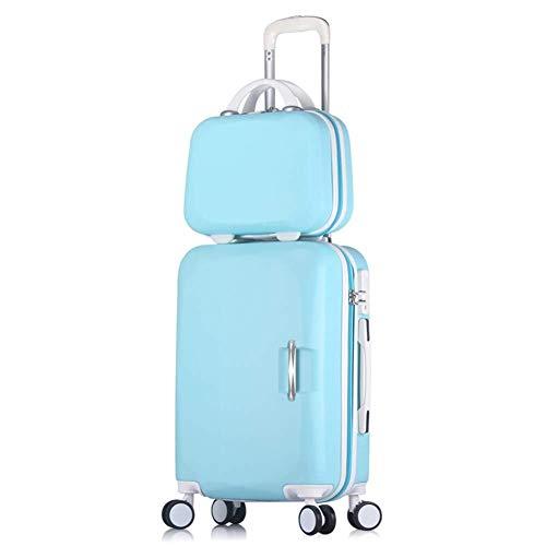 GQY Carro - Contraseña Maleta Trolley Caso Maleta Tablero de chasis - Estudiante Ruedas Pieza de Equipaje (Color : Sky Blue, Size : 26 Inch)