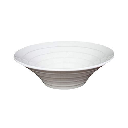 ZH Soupe/Ramen/Dessert/Salade/Seau/Corne Bol Céramique Blanche 8 pouces Courte Calibre 20.3cm (taille : 10inches)