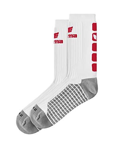 ERIMA Kinder Socken CLASSIC 5-C, weiß/rot, 31-34, 2181913