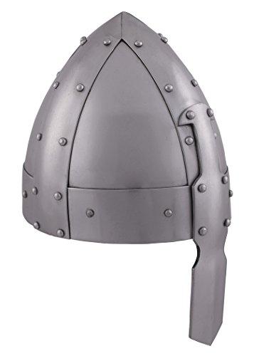 Battle-Merchant Robuster normannischer Spangenhelm mit Lederinlay - Wikinger - Helm - LARP
