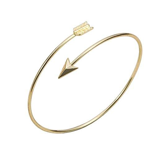 Good.Designs Damen Oberarmreif, edler Pfeil - Armreif für den Oberarm, plattierter Kupferlegierung in 18k-Gold oder Silber (Gold)