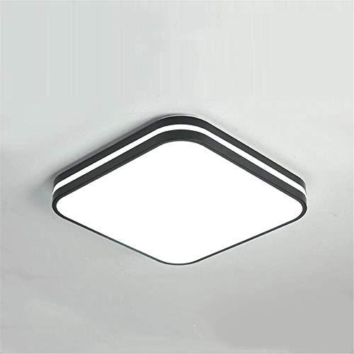 Plafondlamp, LED, woonkamerlamp, smeedijzer, zijlicht, design LED-plafondlamp, vierkante keuken, slaapkamer, badkamer licht