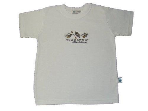BabywearUK T-shirt Shakespeare - 2/3 ans - Fabrication britannique - Blanc - 18-24 mois