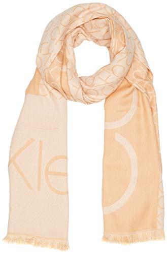 Calvin Klein Damen K60k606081 Schal, Braun (Dark Sand Ge1), One Size (Herstellergröße: OS)
