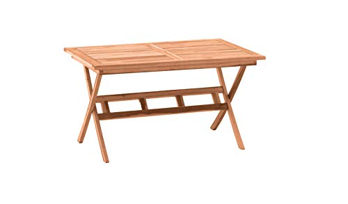Möbilia® tuintafel 135x85 cm, teak teak hout L = 135 x B = 85 x H = 75 cm natuur