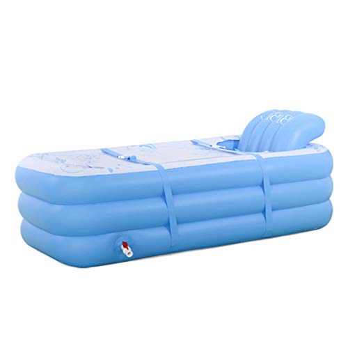 LSG Aufblasbare Badewanne Faltbad Dampfbox Tägliches Spa Für Erwachsene Double Drain Mund Design Dicke Perlbaumwolle Bodenisolierung Kalt Und Hitzebeständig, 165 * 85 * 62 cm
