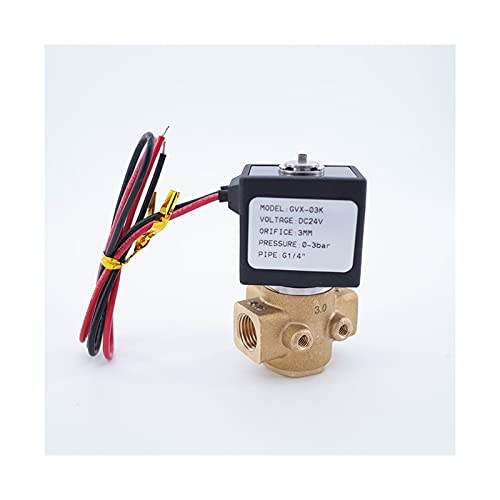 YIJIAN-UMBRELLA Válvula solenoide de 3/2 vías Válvula de Gas Directa Válvula de Gas de latón Inicio de presión Cero 1/8 1/4 Pulgada 1.5mm / 2.2mm / 3mm (Specification : 1/4Inch, Thread Type : 3mm)