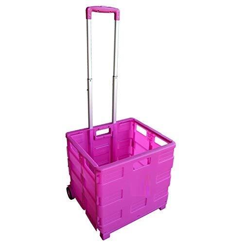 MP Essentials Robuster falt- und tragbarer Transportwagen fürs Shopping und Camping, 40 kg Maximalgewicht rose