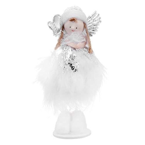 ABOOFAN Weihnachtsengel Figuren Stehende Plüschpuppe Stofftiere Engel Weihnachten Baumkrone Figur Tischschmuck für Urlaub Weihnachten Tisch Kamin Dekoration