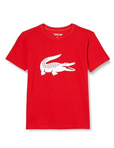 Lacoste Jungen Tj2910 T-Shirt, Rouge/Blanc, 6A