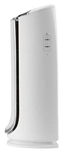 Rowenta Intense Pure Air PU6020 Purificador de Aire XL, para Habitaciones hasta 120 m², con sensores contaminación y 4 Niveles de filtración, 75 W, 4 Velocidades, Plata, Blanco