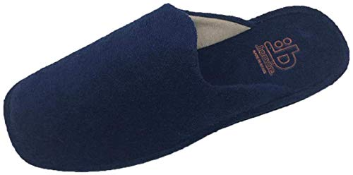 Hausschuhe / Herren / Jungen / Berevëre / Nummer 40-51 / Frottee, Blau - Marineblau - Größe: 43 EU