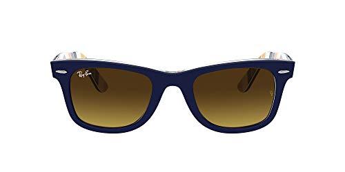 Ray-Ban Gafas de Sol ORIGINAL WAYFARER RB 2140 Blue Orange Stripes/Dark Brown Shaded 50/22/150 unisex