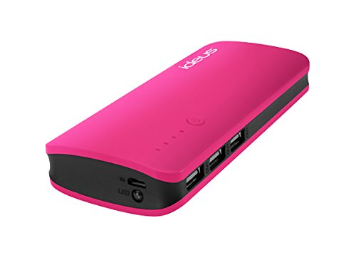 Ideus PBRU10000FU - Batería Externa con Micro USB de 10000 mAh, Color Rosa