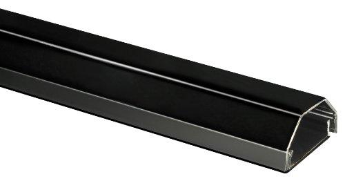 My Wall Kabelkanal HZ3-0,75SL, 20 Jahre Garantie, Aluminium, 33 mm. 2-teilig, Farbe: schwarz, Länge: 0,75m