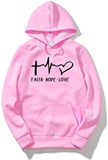 The SV Style UNISEX PRINTED HOODIE: FAITH HOPE LOVE/Hoodie for men & women/Warm Hoodie/Unisex Hoodie