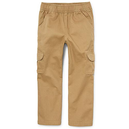 The Children's Place Boys' Uniform Pull On Chino Cargo Pants, Flax, 14 husky