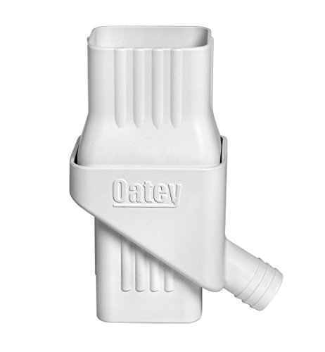 Oatey 14209 Mystic Rainwater Collection System Fits 2' X 3' Residential Downspouts, white