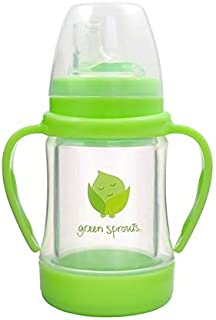 green sprouts Glass Sip & Straw Cup, Light Lime, 6 Months+