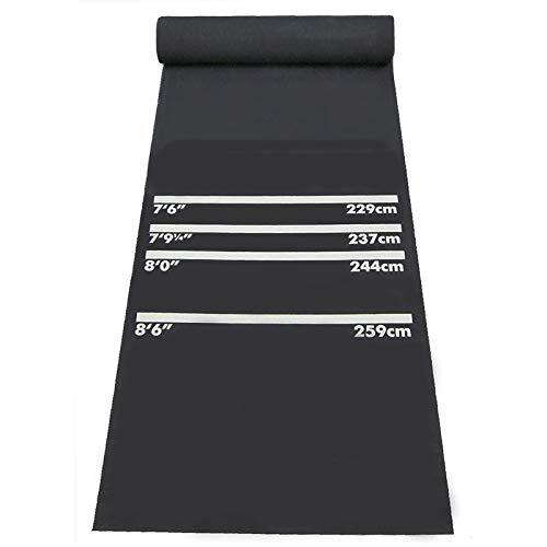 N \ A Gummi-Dart-Dartmatte mit Wurfleinen Professioneller Gummi-Dart-Teppich rutschfeste Dart-Bodenmatte für alle Dart-Typen, 24 * 118,11 Zoll