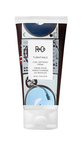 R+Co Turntable Curl Defining Cream, Lightweight Moisturizer for Defined and Shiny Curls, 5 Fl Oz