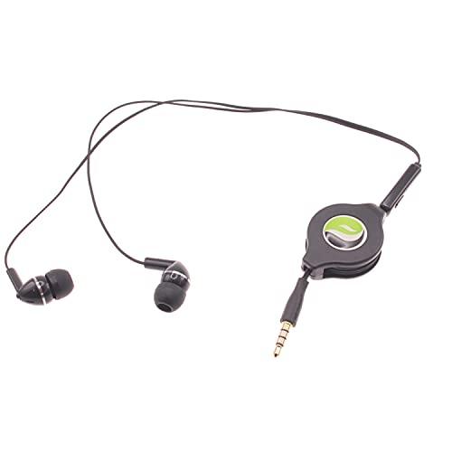 Headphones Retractable Earphones for Galaxy A12 A32 A42 A51 A52 A71 A72 5G Phones - Hands-Free Headset 3.5mm w Mic Earbuds L8Y Compatible with Samsung Galaxy A12 A32 A42 A51 A52 A71 A72 5G Models